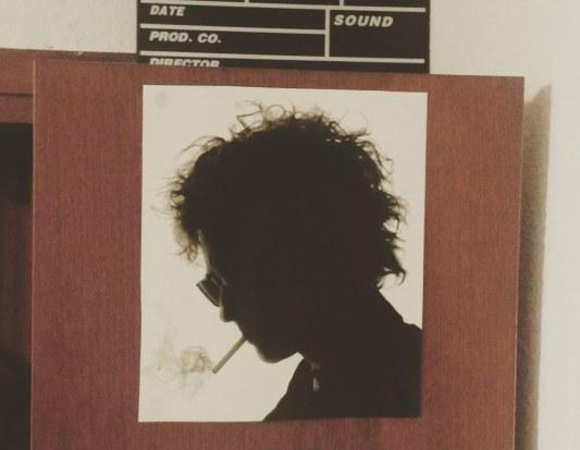 Cate Blanchet caracterizada como Bob Dylan en I´m Not There (2007), de Tod Haynes, en la pared de mi habitación (c) Rau García